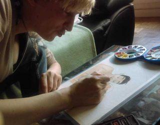 Moi qui peint une aquarelle 02