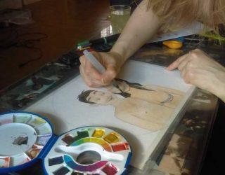 Moi qui peint une aquarelle 03